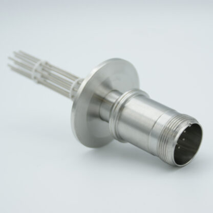 5 pair Thermocouple type-E with MS connector on atmospheric side, DN40KF flange