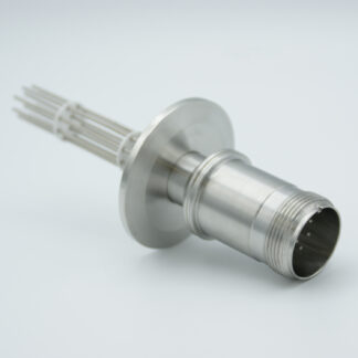 10 pin feedthrough with air-side connector 700Volt / 10 Amp. DN40KF flange