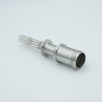 10 pin feedthrough with air-side connector 700Volt / 10 Amp. DN16KF flange