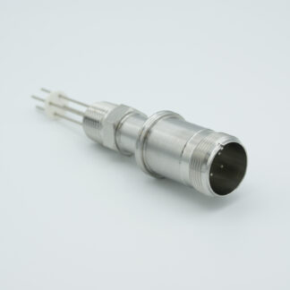 10 pin feedthrough with air-side connector 700Volt / 10 Amp. NPT flange