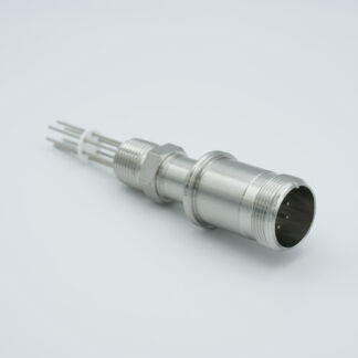 6 pin feedthrough with air-side connector 700Volt / 10 Amp. NPT flange