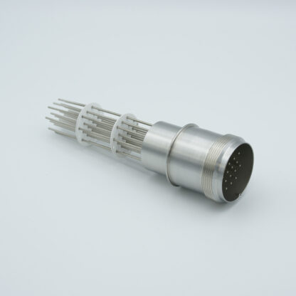 20 pin feedthrough with air-side connector 700Volt / 10 Amp. weld fitting