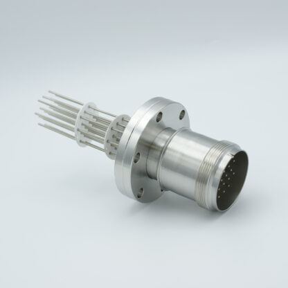 10 pair Thermocouple type-J with MS connector on atmospheric side, DN40CF flange
