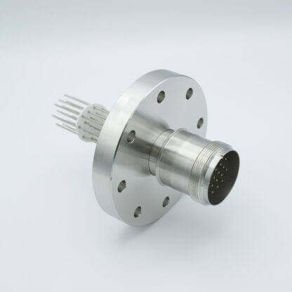 20 pin feedthrough with air-side connector 700Volt / 10 Amp. DN63CF flange