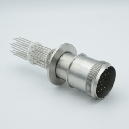10 pair Thermocouple type-J with MS connector on atmospheric side, DN40KF flange