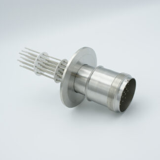 20 pin feedthrough with air-side connector 700Volt / 10 Amp. DN50KF flange