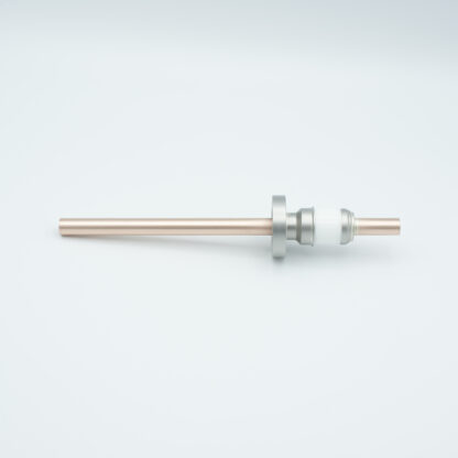 1 pin water cooled feedthrough 8000Volt DC Copper conductor, DN19CF flange