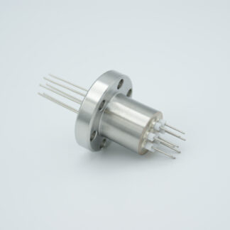 8 pin Stainless steel conductor feedthrough 500V / 1 Amp. DN19CF flange