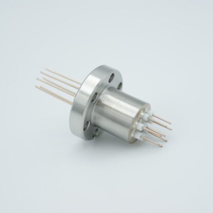 8 pin Copper conductor feedthrough 500V / 12 Amp. DN19CF flange