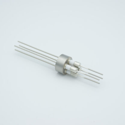 4 pin Molybdenum conductor feedthrough 5000Volt / 13 Amp. weld fitting