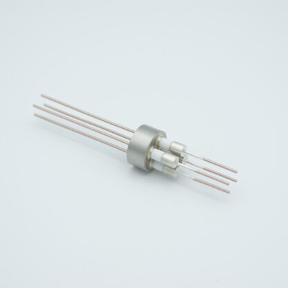 4 pin Nickel conductor feedthrough 5000Volt / 5 Amp. weld fitting