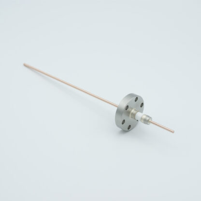 1 pin Nickel conductor feedthrough 5000Volt / 15 Amp. DN19CF flange