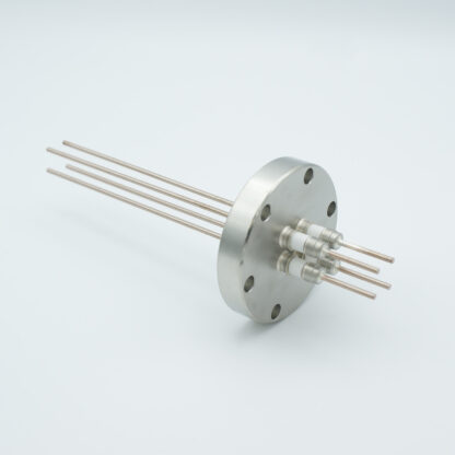 4 pin Molybdenum conductor feedthrough 5000Volt / 28 Amp. DN40CF flange