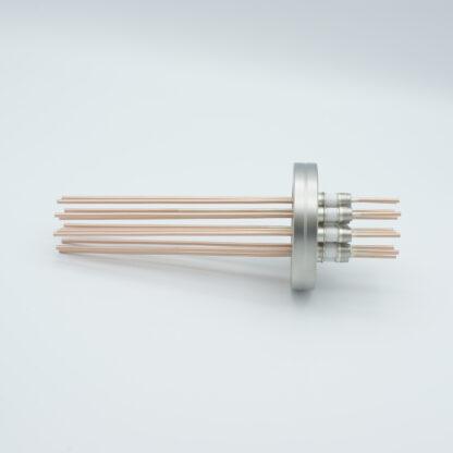 12 pin Copper conductor feedthrough 5000Volt / 30 Amp. DN40CF flange