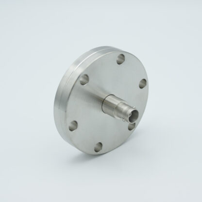 Grounded shield, single ended MHV feedthrough 5000V / 3 Amp, DN40CF without air side connector
