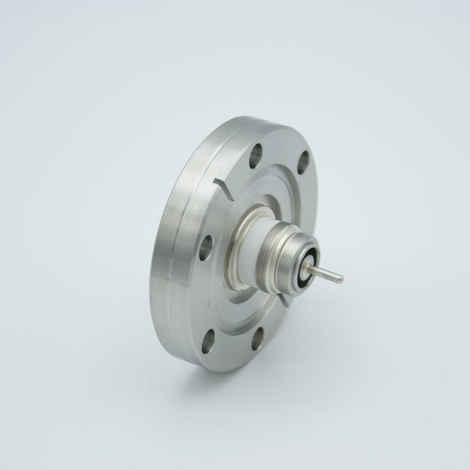 Floating shield, single ended BNC feedthrough 500V / 3 Amp, DN40CF without air side connector