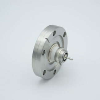 Floating shield, single ended MHV feedthrough 5000V / 3 Amp, DN40CF without air side connector