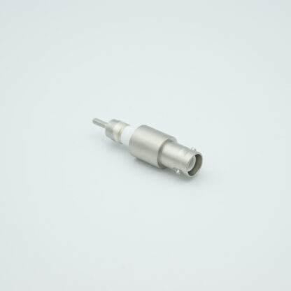 Grounded shield exposed SHV-5 Amp 5000 VDC feedthrough, weld fitting without air side connector
