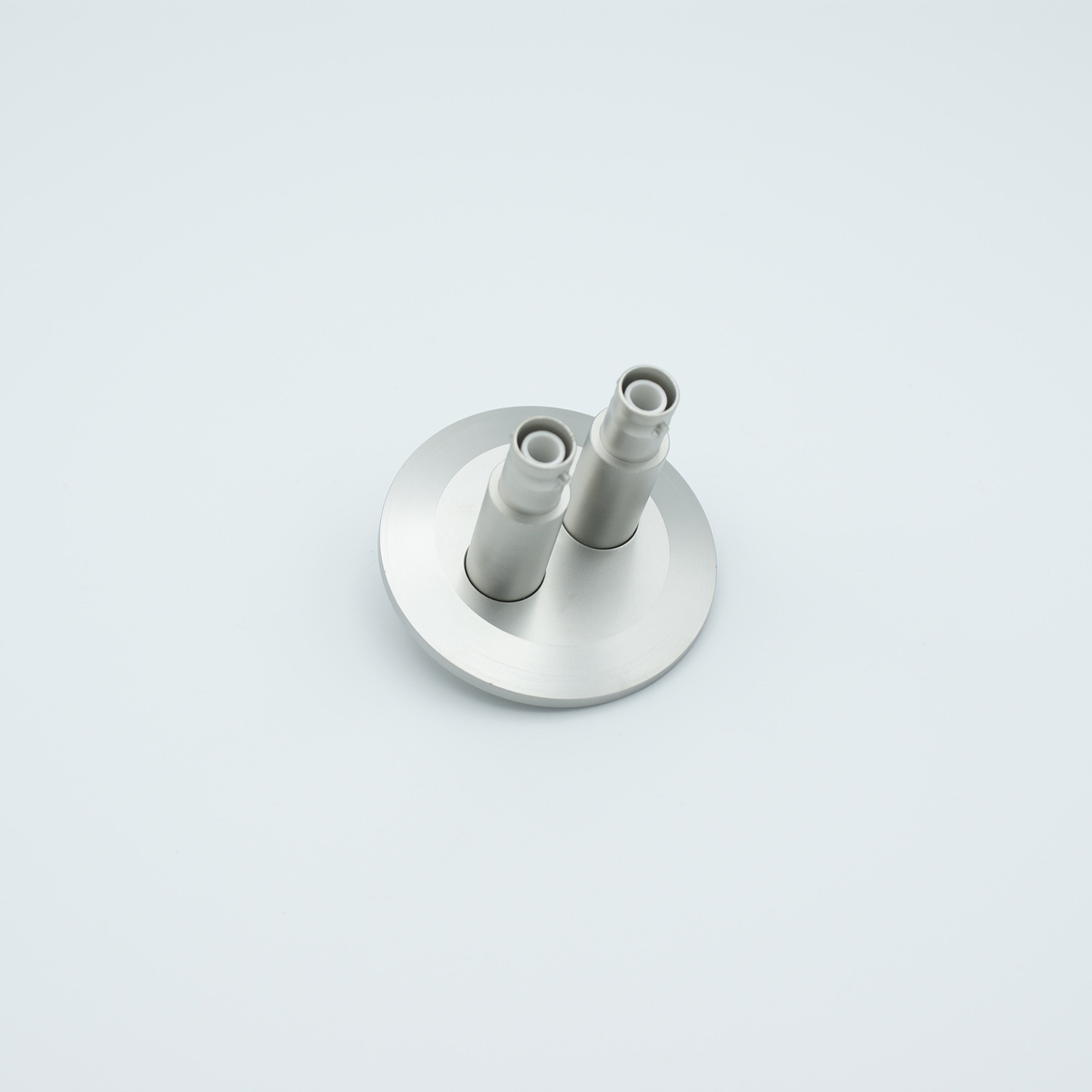 2 of grounded shield recessed SHV-5 Amp 5000 VDC feedthrough, air side connector included DN40KF