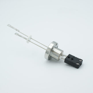 1 pair Thermocouple type-J feedthrough with both side connectors included, DN19CF flange