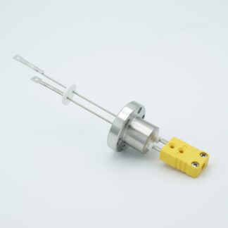 1 pair Thermocouple type-K feedthrough with both side connectors included, DN19CF flange