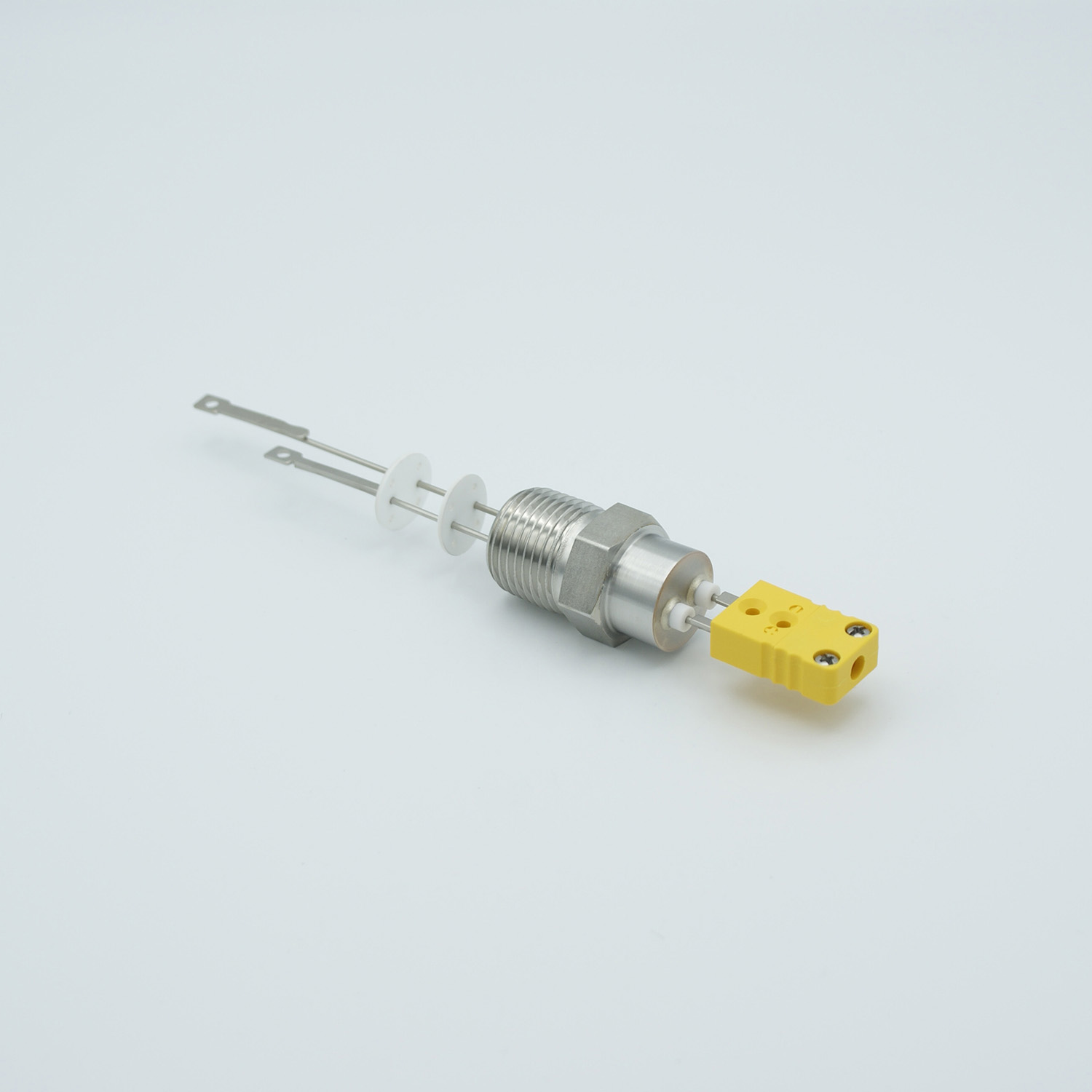 1 pair Thermocouple type-R or S feedthrough with both side connectors included, NPT 1/2