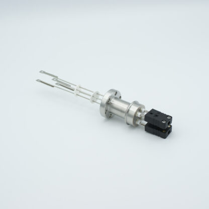 2 pair Thermocouple type-J feedthrough with both side connectors included, DN19CF flange