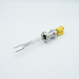 2 pair Thermocouple type-K feedthrough with both side connectors included, DN19CF flange
