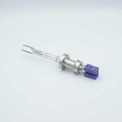 2 pair Thermocouple type-E feedthrough with both side connectors included, DN19CF flange