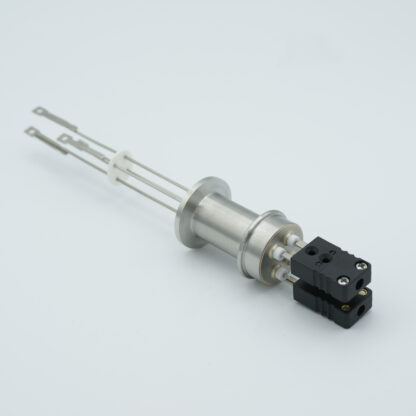 2 pair Thermocouple type-J feedthrough with both side connectors included, DN16KF flange