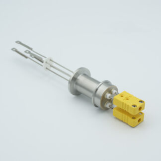 2 pair Thermocouple type-R or S feedthrough with both side connectors included, DN16KF flange