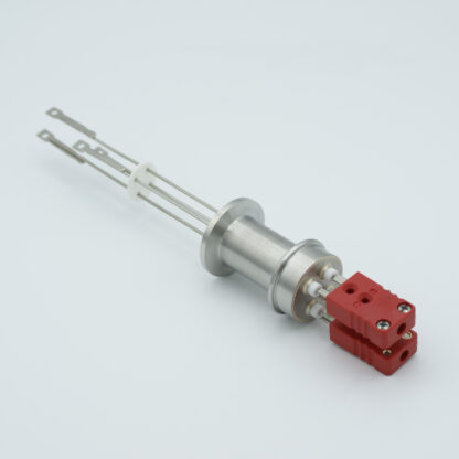 2 pair Thermocouple type-C feedthrough with both side connectors included, DN16KF flange