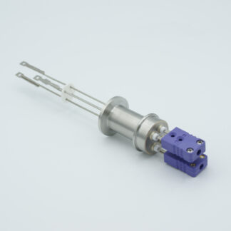 2 pair Thermocouple type-E feedthrough with both side connectors included, DN16KF flange