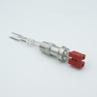 "2 pair Thermocouple type-C feedthrough with both side connectors included, NPT 1/2"" flange"