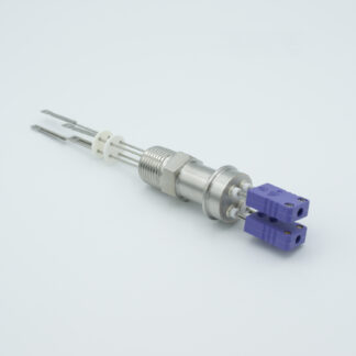 "2 pair Thermocouple type-J feedthrough with both side connectors included, NPT 1/2"" flange"