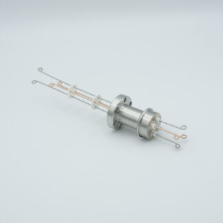 2 pair Thermocouple type-R or S feedthrough with both side connectors included, DN19CF flange