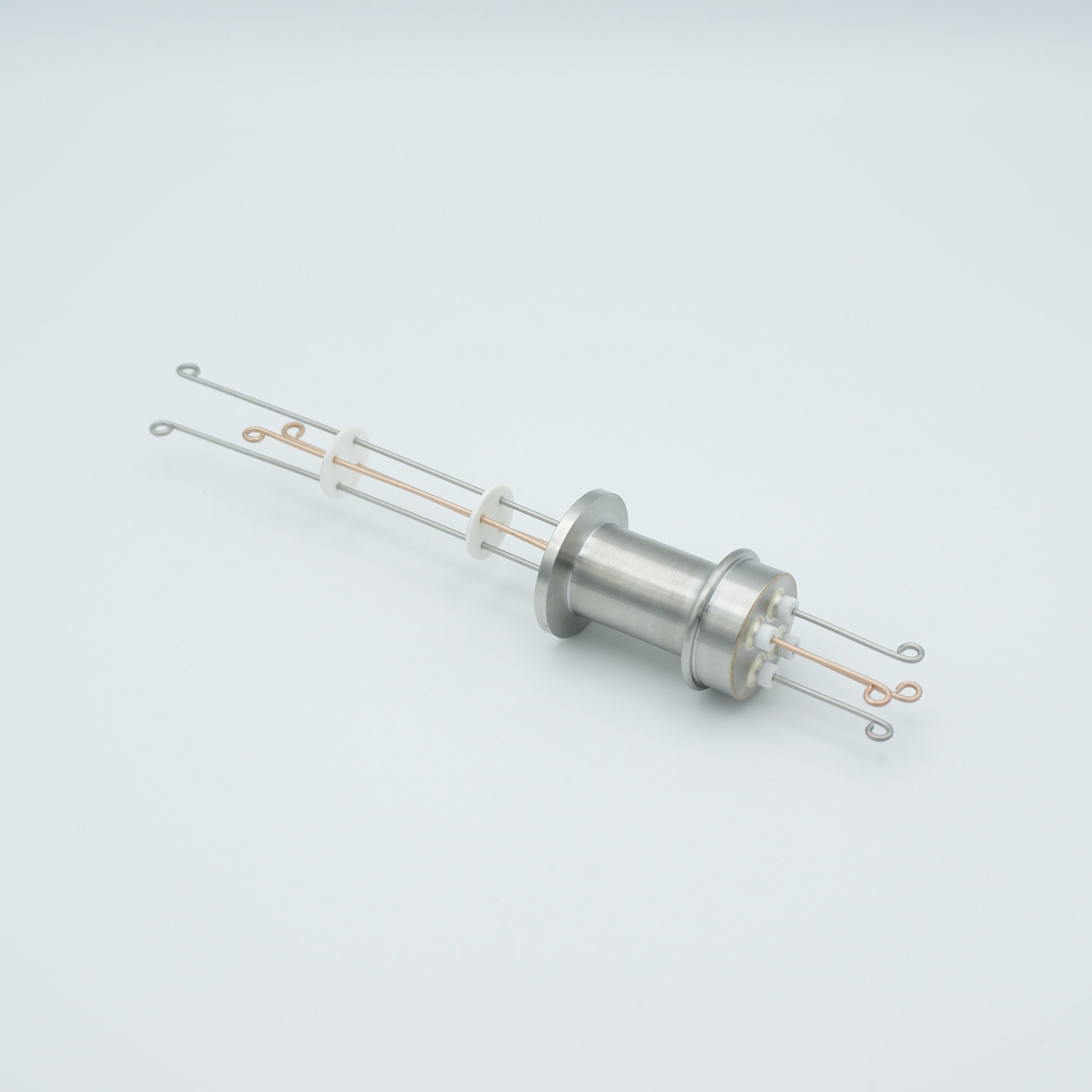 2 pair Thermocouple type-T feedthrough with both side connectors included, DN16KF flange
