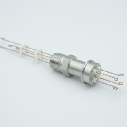"2 pair Thermocouple type-T feedthrough with both side connectors included, NPT 1/2"" flange"