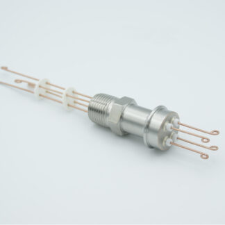 "2 pair Thermocouple type-R or S feedthrough with both side connectors included, NPT 1/2"" flange"