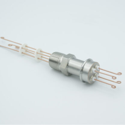 """2 pair Thermocouple type-R or S feedthrough with both side connectors included, NPT 1/2"""" flange"""