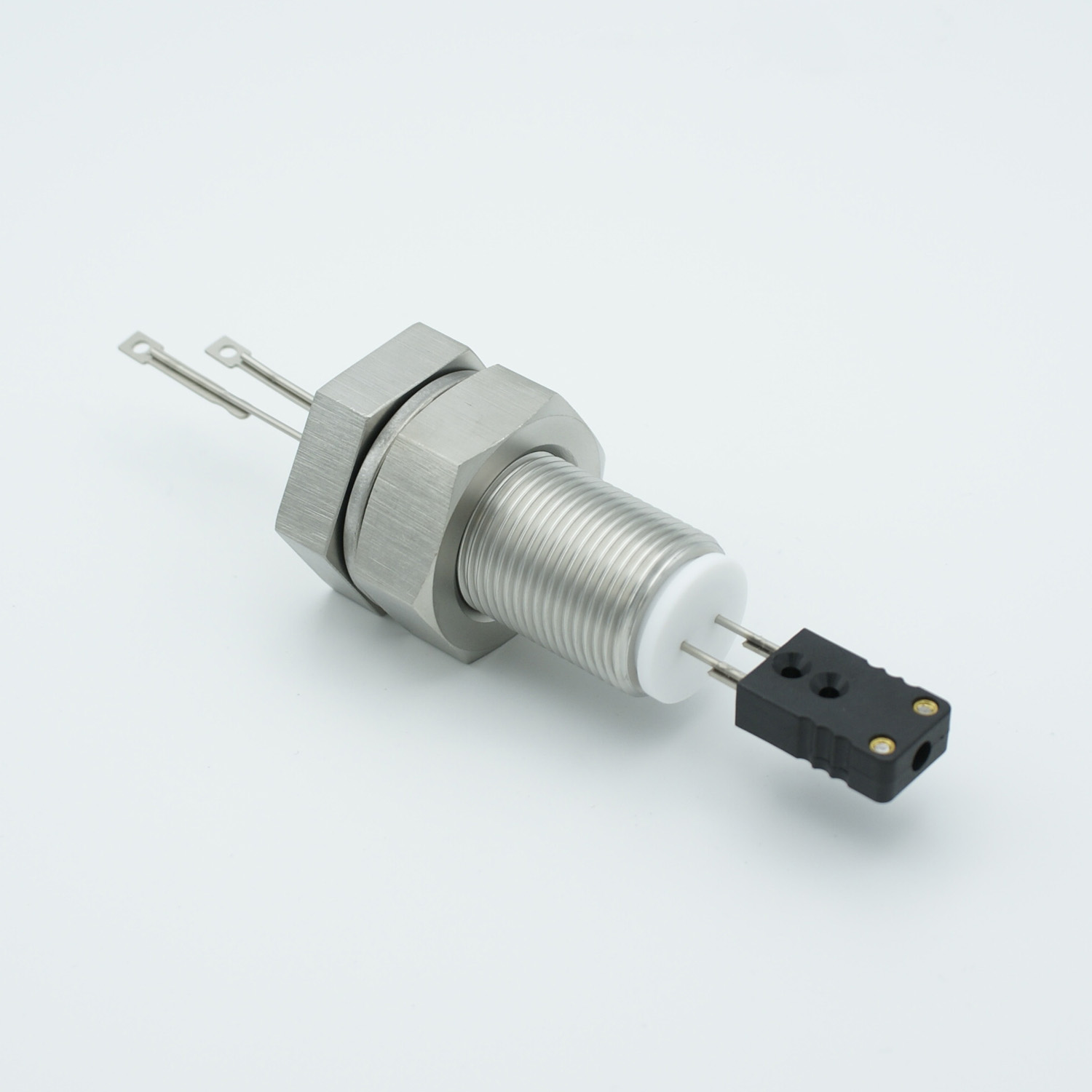 1 pair Thermocouple type-J feedthrough with both side connectors included, base plate fitting