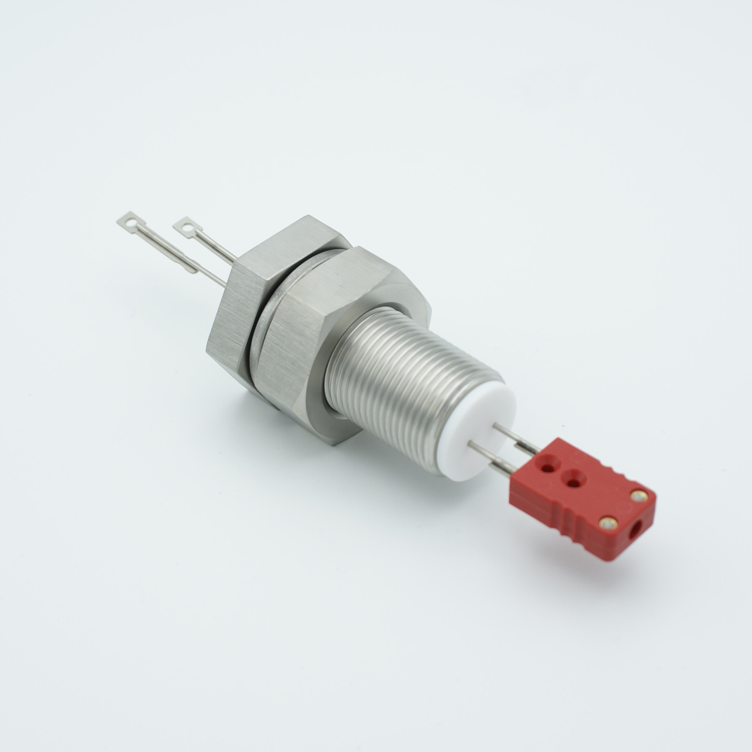 1 pair Thermocouple type-C feedthrough with both side connectors included, base plate fitting