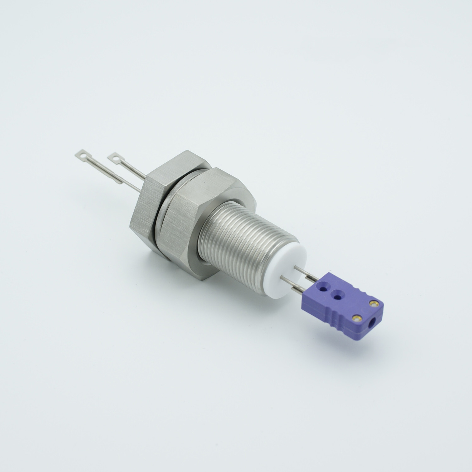 1 pair Thermocouple type-E feedthrough with both side connectors included, base plate fitting