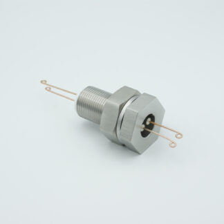 1 pair Thermocouple type-R or S feedthrough with both side connectors included, base plate fitting