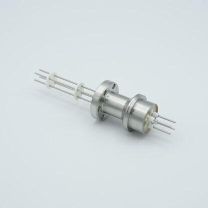 10 pin feedthrough 2000Volt / 10 Amp. Alumel conductor, DN19CF flange