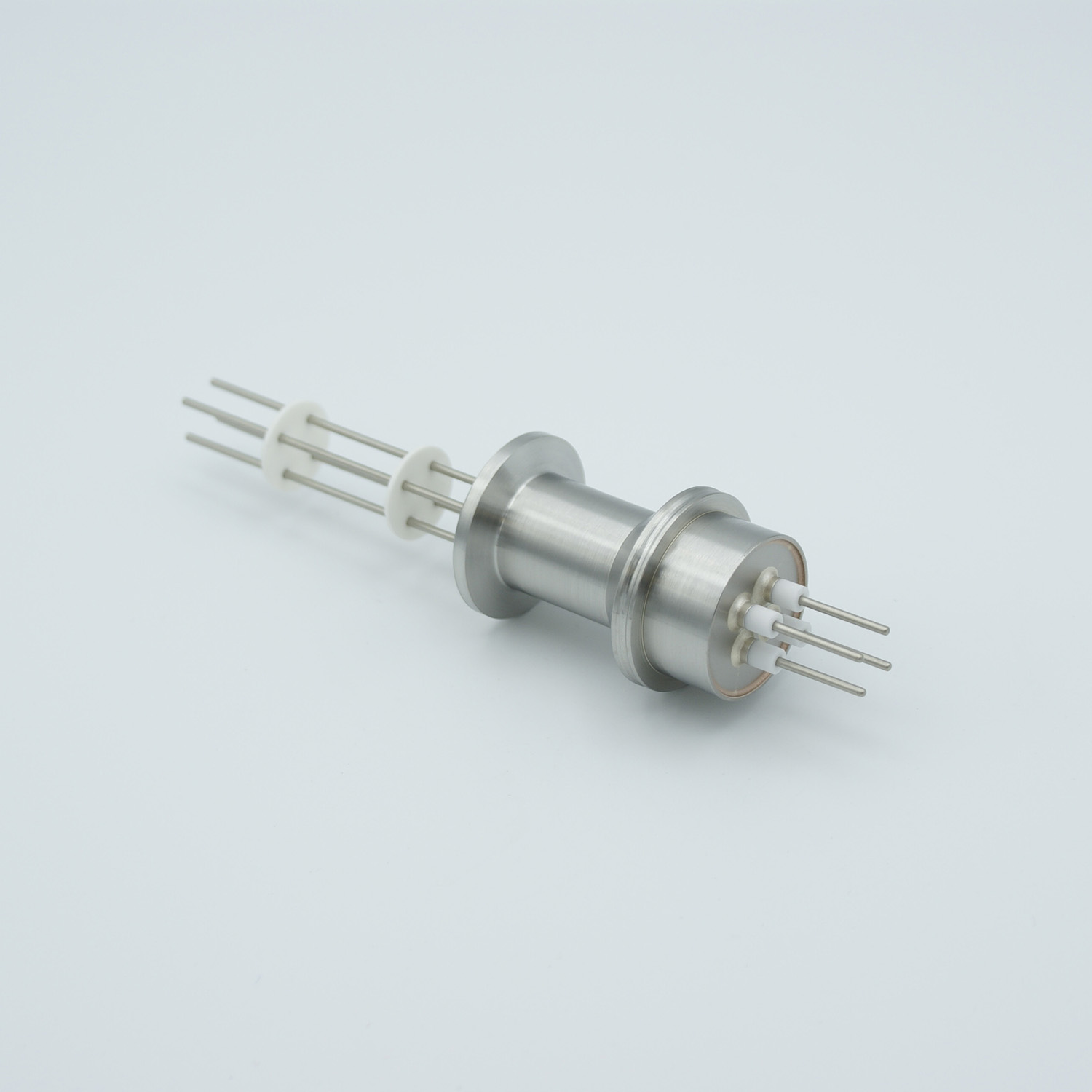 2 pair Thermocouple type-E feedthrough for push on connectors, DN16KF flange