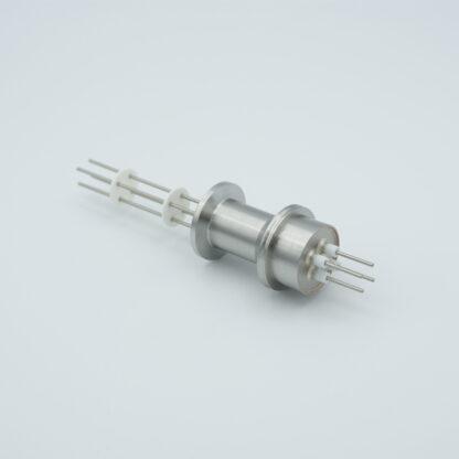 10 pin feedthrough 2000Volt / 10 Amp. Alumel conductor, DN16KF flange