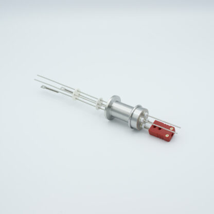 1 pair Thermocouple type-C and 1 pair nickel feedthrough 1000V, with TC connectors included, DN16KF flange