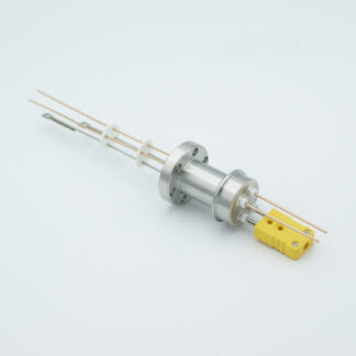 1 pair Thermocouple type-K and 1 pair copper feedthrough 1000V, with TC connectors included, DN19CF flange