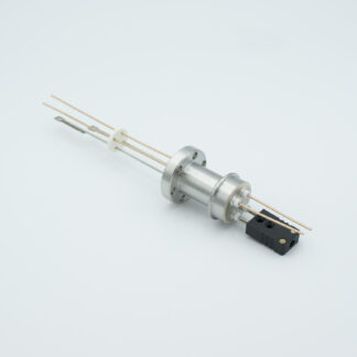1 pair Thermocouple type-J and 1 pair copper feedthrough 1000V, with TC connectors included, DN19CF flange